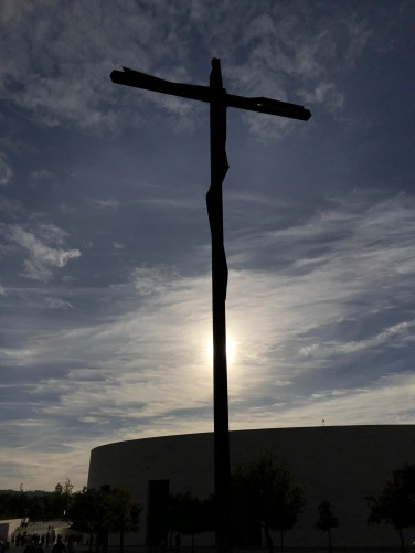 fatima crucifix backlit